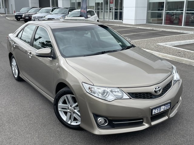 Pre-Owned Toyota Camry ASV50R Atara SL South Morang, 2013 Toyota Camry ASV50R Atara SL Gold 6 Speed Sports Automatic Sedan