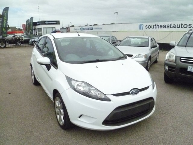 Used Ford Fiesta WS LX Moorabbin, 2010 Ford Fiesta WS LX White 5 Speed Manual Hatchback