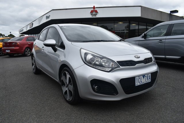 Used Kia Rio UB MY14 SLi Wantirna South, 2014 Kia Rio UB MY14 SLi Billet Silver 6 Speed Manual Hatchback