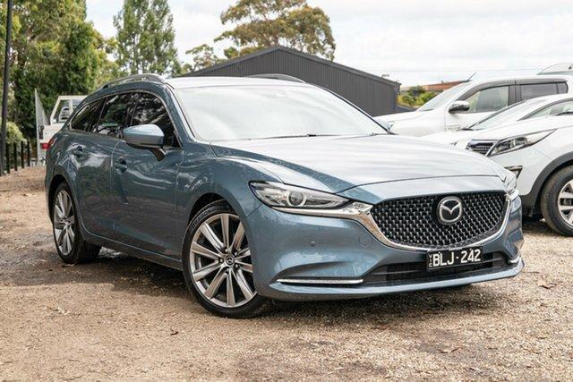 Used Mazda 6 GL1032 GT SKYACTIV-Drive Mornington, 2018 Mazda 6 GL1032 GT SKYACTIV-Drive Blue 6 Speed Sports Automatic Wagon