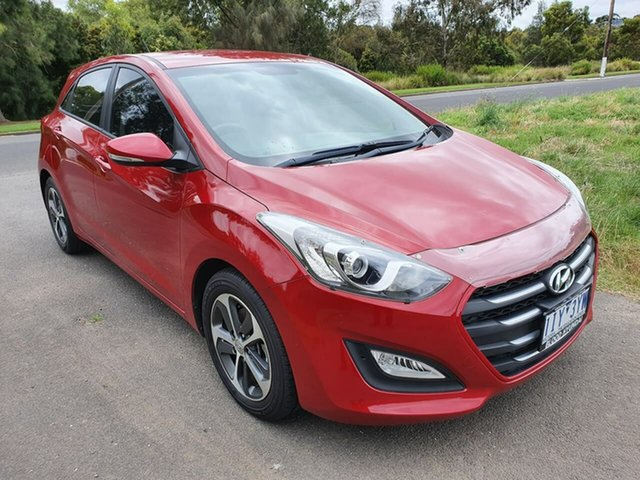 Used Hyundai i30 Active X Geelong, 2016 Hyundai i30 GD4 Series II Active X Red Sports Automatic Hatchback