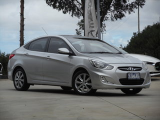 2012 Hyundai Accent RB Premium Silver 4 Speed Sports Automatic Sedan.