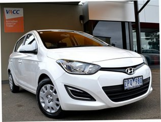 2013 Hyundai i20 PB MY13 Active White 4 Speed Automatic Hatchback.
