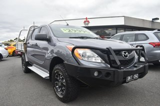 2012 Mazda BT-50 UP0YF1 XT Grey 6 Speed Manual Cab Chassis.