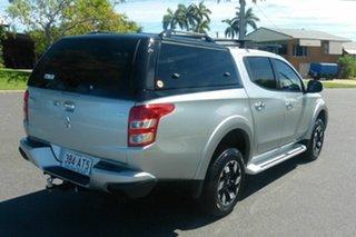 2017 Mitsubishi Triton MQ MY17 GLS Double Cab Silver 6 Speed Manual Utility.