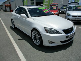 2006 Lexus IS250 White 4 Speed Automatic Sedan.