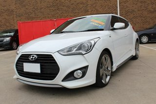 2013 Hyundai Veloster FS MY13 SR Turbo White 6 Speed Automatic Coupe