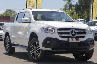 2018 Mercedes-Benz X-Class 470 X350d 7G-Tronic + 4MATIC Progressive White 7 Speed Sports Automatic.
