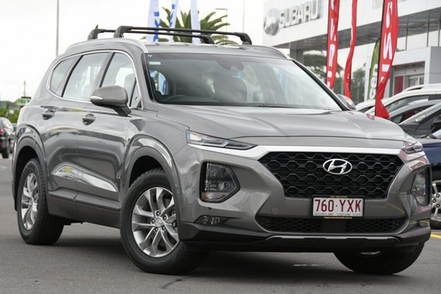 Used Hyundai Santa Fe TM MY19 Active Aspley, 2018 Hyundai Santa Fe TM MY19 Active Wild Explorer Grey 8 Speed Sports Automatic Wagon