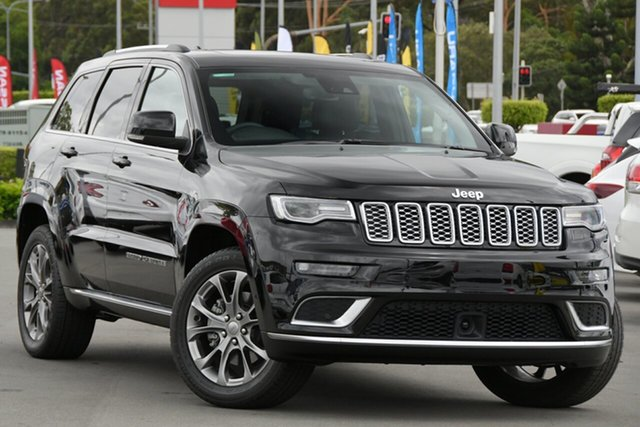Used Jeep Grand Cherokee WK MY19 Summit Aspley, 2019 Jeep Grand Cherokee WK MY19 Summit Diamond Black Crystal 8 Speed Sports Automatic Wagon