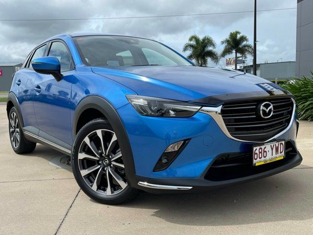Used Mazda CX-3 DK2W7A sTouring SKYACTIV-Drive FWD Townsville, 2019 Mazda CX-3 DK2W7A sTouring SKYACTIV-Drive FWD Blue 6 Speed Sports Automatic Wagon