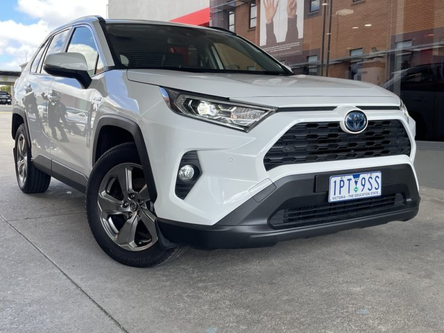 Pre-Owned Toyota RAV4 Axah54R GXL eFour Preston, 2019 Toyota RAV4 Axah54R GXL eFour White 6 Speed Constant Variable Wagon Hybrid