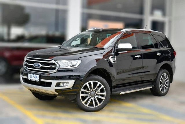 Used Ford Everest UA II 2019.75MY Titanium Berwick, 2019 Ford Everest UA II 2019.75MY Titanium Black 10 Speed Sports Automatic SUV