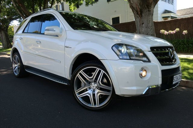 Used Mercedes-Benz M-Class W164 MY10 ML63 AMG Prospect, 2010 Mercedes-Benz M-Class W164 MY10 ML63 AMG White 7 Speed Sports Automatic Wagon