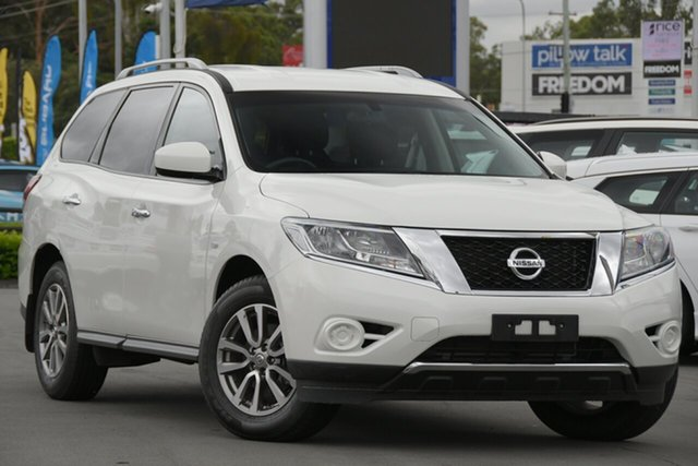 Used Nissan Pathfinder R52 MY15 ST X-tronic 2WD Aspley, 2015 Nissan Pathfinder R52 MY15 ST X-tronic 2WD White 1 Speed Constant Variable Wagon