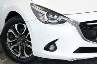 2015 Mazda 2 genky White Hatchback.