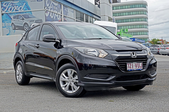 Used Honda HR-V MY15 VTi Springwood, 2015 Honda HR-V MY15 VTi Black 1 Speed Constant Variable Hatchback