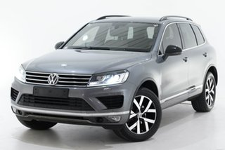 2018 Volkswagen Touareg 7P MY18 Monochrome Tiptronic 4MOTION Grey 8 Speed Sports Automatic Wagon.
