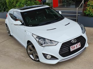 2014 Hyundai Veloster SR Turbo White 6 Speed Automatic Coupe