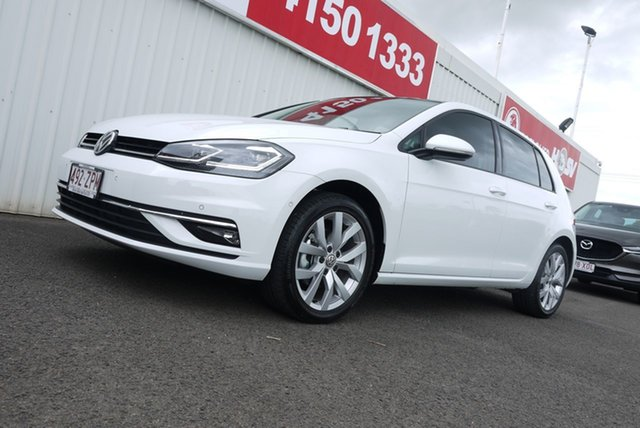 Used Volkswagen Golf 7.5 MY20 110TSI DSG Highline Bundaberg, 2020 Volkswagen Golf 7.5 MY20 110TSI DSG Highline White 7 Speed Sports Automatic Dual Clutch