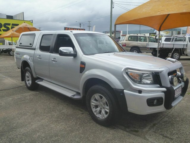 Used Ford Ranger PK XLT Crew Cab Morayfield, 2011 Ford Ranger PK XLT Crew Cab Silver 5 Speed Automatic Utility