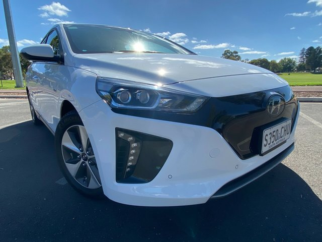 Demo Hyundai Ioniq AE.2 MY19 electric Premium Nailsworth, 2019 Hyundai Ioniq AE.2 MY19 electric Premium Polar White 1 Speed Reduction Gear Fastback