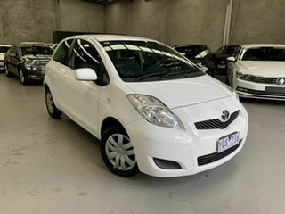 2011 Toyota Yaris NCP130R YR White 5 Speed Manual Hatchback.