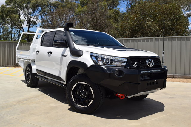 Used Toyota Hilux GUN126R Rugged X Double Cab Echuca, 2018 Toyota Hilux GUN126R Rugged X Double Cab White 6 Speed Sports Automatic Utility
