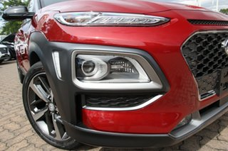 2020 Hyundai Kona OS.3 MY20 Highlander 2WD Pulse Red & Black Roof 6 Speed Sports Automatic Wagon.