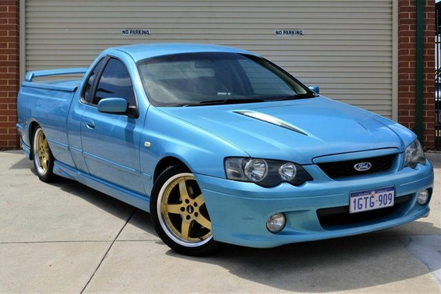 Used Ford Falcon BA Mk II XR8 Ute Super Cab Mount Lawley, 2004 Ford Falcon BA Mk II XR8 Ute Super Cab Blue 4 Speed Sports Automatic Utility