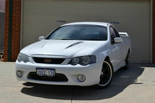 2006 Ford Falcon BF XR8 Ute Super Cab White 6 Speed Sports Automatic Utility.