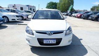 2010 Hyundai i30 FD MY11 SX White 4 Speed Automatic Hatchback.