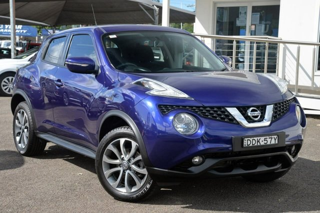 Used Nissan Juke F15 Series 2 ST X-tronic 2WD North Gosford, 2015 Nissan Juke F15 Series 2 ST X-tronic 2WD Purple 1 Speed Constant Variable Hatchback