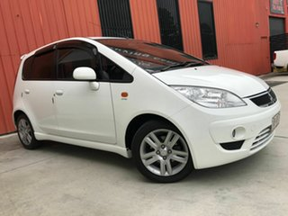 2010 Mitsubishi Colt RG MY11 VR-X White 5 Speed Constant Variable Hatchback.
