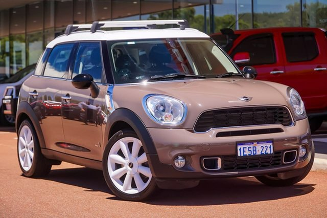 Used Mini Countryman R60 Cooper S ALL4 Gosnells, 2011 Mini Countryman R60 Cooper S ALL4 Brown 6 Speed Manual Wagon