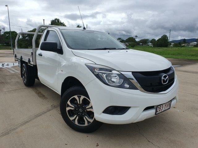 Used Mazda BT-50 UR0YE1 XT 4x2 Townsville, 2018 Mazda BT-50 UR0YE1 XT 4x2 White 6 Speed Manual Cab Chassis