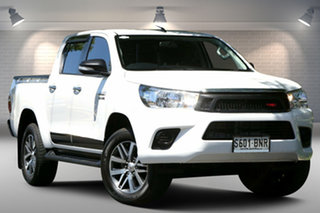 2016 Toyota Hilux GUN136R SR Double Cab 4x2 Hi-Rider White 6 Speed Sports Automatic Utility.