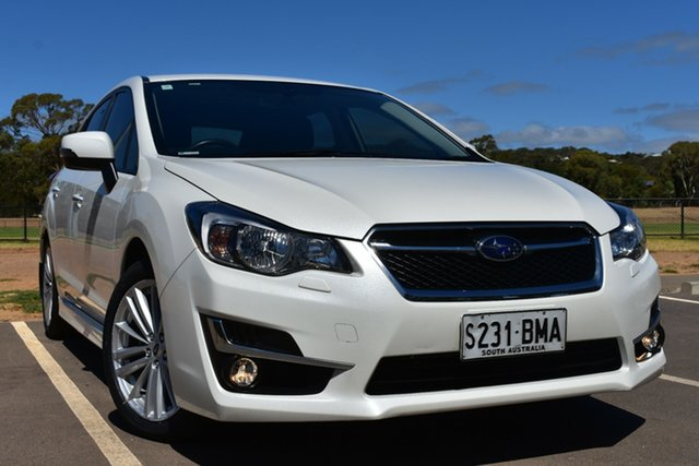 Used Subaru Impreza G4 MY16 2.0i Lineartronic AWD Premium St Marys, 2016 Subaru Impreza G4 MY16 2.0i Lineartronic AWD Premium White 6 Speed Constant Variable Hatchback