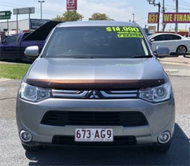 2012 Mitsubishi Outlander ZH LS Grey 6 Speed Constant Variable Wagon.