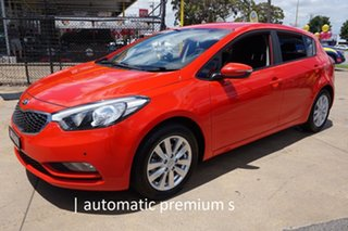 2015 Kia Cerato YD MY15 S Premium Red 6 Speed Sports Automatic Hatchback.