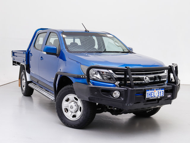 Used Holden Colorado RG MY19 LS (4x2), 2018 Holden Colorado RG MY19 LS (4x2) Blue 6 Speed Automatic Crew Cab Chassis