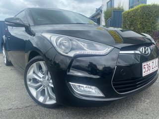 2012 Hyundai Veloster FS Coupe Black 6 Speed Manual Hatchback.