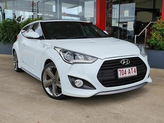 2014 Hyundai Veloster SR Turbo White 6 Speed Automatic Coupe.