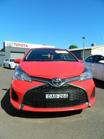 Pre-Owned Toyota Yaris NCP130R MY15 Ascent Wellington, 2015 Toyota Yaris NCP130R MY15 Ascent 5 Speed Manual Hatchback