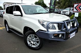 2012 Toyota Landcruiser Prado KDJ150R VX White 5 Speed Sports Automatic Wagon.