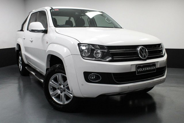 Used Volkswagen Amarok 2H MY15 TDI420 4Motion Perm Highline Hamilton, 2015 Volkswagen Amarok 2H MY15 TDI420 4Motion Perm Highline Candy White 8 Speed Automatic Utility