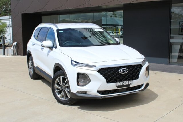 Demo Hyundai Santa Fe TM.2 MY20 Active X Tuggerah, 2020 Hyundai Santa Fe TM.2 MY20 Active X White Cream 8 Speed Sports Automatic Wagon
