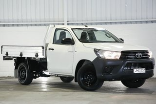 2017 Toyota Hilux TGN121R Workmate 4x2 Null 6 Speed Sports Automatic Cab Chassis