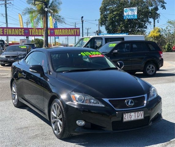 Used Lexus IS GSE20R IS250 C Sports Luxury Archerfield, 2012 Lexus IS GSE20R IS250 C Sports Luxury Black 6 Speed Sports Automatic Convertible