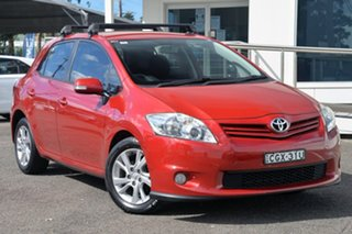 2012 Toyota Corolla ZRE152R MY11 Ascent Sport Red 6 Speed Manual Hatchback.